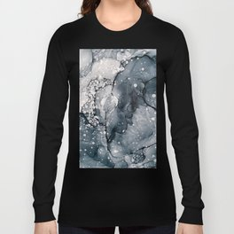 Icy Payne's Grey Abstract Bubble / Snow Painting Long Sleeve T-shirt