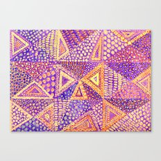 Handmade Abstract Background, Violet Dominant Canvas Print
