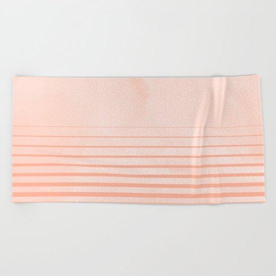 Sweet Life Peach Coral Gradient Beach Towel