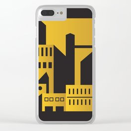 Golden city art deco Clear iPhone Case