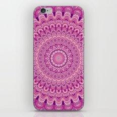 Pink flower mandala iPhone & iPod Skin