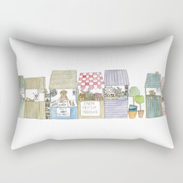 The Market Rectangular Pillow