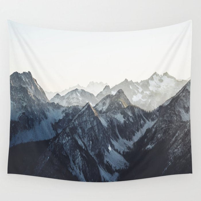 Mountain Mood Wall Tapestry By Blackwinter Society6