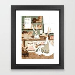 Bunny Bakery Framed Art Print