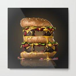 B for Burger Metal Print