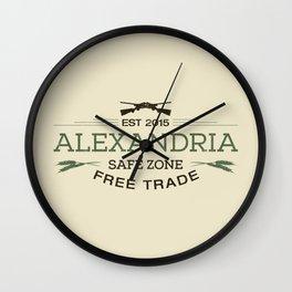 Alexandria Safe Zone Free Trade Wall Clock