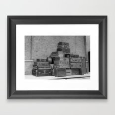 Vintage Luggage Framed Art Print