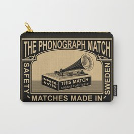 The Vintage Phonograph Safety Matches Carry-All Pouch