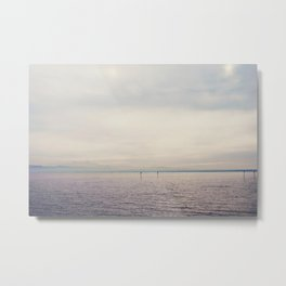 sunset along Lake Constance in Germany ... Metal Print