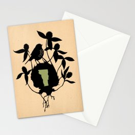 Vermont - State Papercut Print Stationery Cards