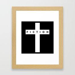 Fiction Cross Dark Framed Art Print
