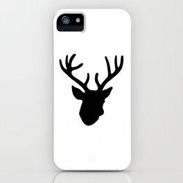 Deer Head: Black iPhone Case