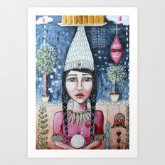 Profit Over Humanity Art Print