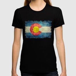 Coloradan flag in Retro Grunge T-shirt