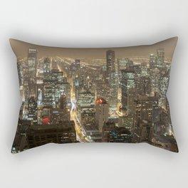 Chicago Skyline Nightshot Rectangular Pillow