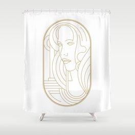 Girl Art Deco 04 Shower Curtain