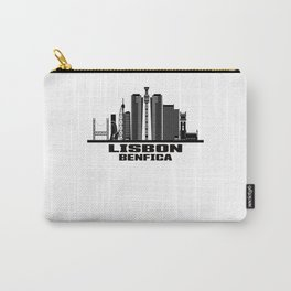 Lisbon Benfica Portugal Skyline Carry-All Pouch