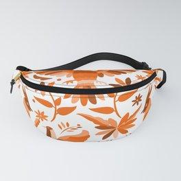 Mexican Otomí Design in Orange Color Fanny Pack