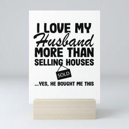 I Love Tax Saison Real Estate Agent Realtor Gift Quote Funny Mini Art Print