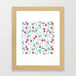 Sweet Red Cherries Framed Art Print