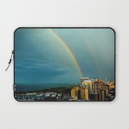 Somewhere Over Chicago Laptop Sleeve