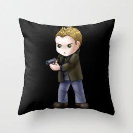 Chibi Dean Winchester (Black BG) Throw Pillow