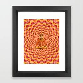 Yoga Fox Framed Art Print