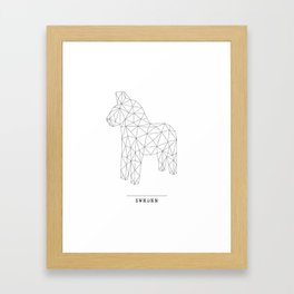 A Swedish Dala horse poster Framed Art Print