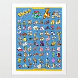 Gotta derp 'em all! - Blue edition Art Print