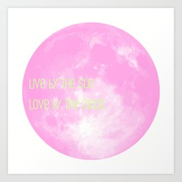 Love By The Moon Pink Art Print