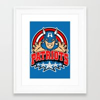 patriots Framed Art Prints featuring Patriots by Buby87