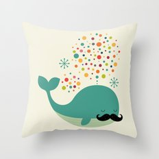 Firewhale Throw Pillow