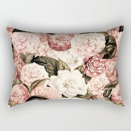 Vintage & Shabby floral camellia flowers watercolor pattern Rectangular Pillow