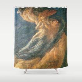 Paolo e Francesca (Swept Away) by Gaetano Previati Shower Curtain