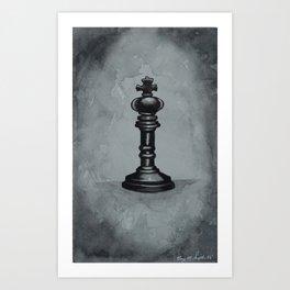 Black Chess Piece | Watercolor Painting Art Print