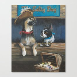 Salty Dogs Canvas Print