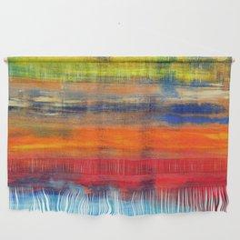 Horizon Blue Orange Red Abstract Art Wall Hanging