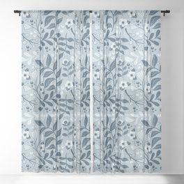 Winter Forage Sheer Curtain