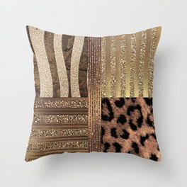 Gold Lioness Safari Chic Throw Pillow