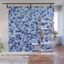 Blue Ice Sparkling Jewels and Pearls Wall Mural