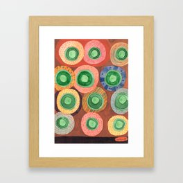 The Green Core Combines Framed Art Print