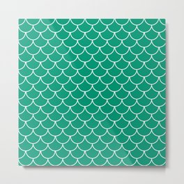 Emerald Scales Metal Print