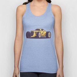GAZ GL1 Custom Vintage Hot Rod Classic Street Racer Car - Yellow Unisex Tank Top