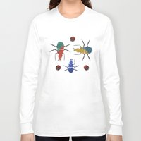 insects Long Sleeve T-shirts featuring playful insects by Lydia Coventry