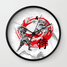Samurai Warriors Wall Clock