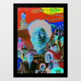 Faces of Fountain Heights Art Print