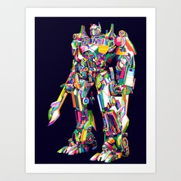 Transformer in pop art Art Print