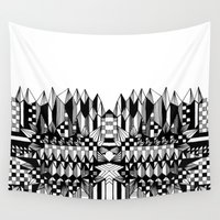 geo Wall Tapestries featuring Geo by Eva Bellanger