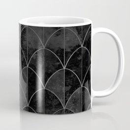 Mermaid scales in black and white. Coffee Mug