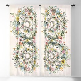 Circle of life- floral Blackout Curtain
